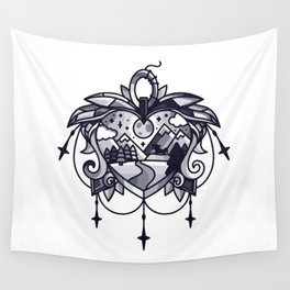 heart path Wall Tapestry