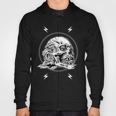 Skullflower Black and White  Hoody