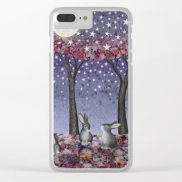 starlit bunnies Clear iPhone Case