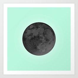 BLACK MOON + TEAL SKY Art Print