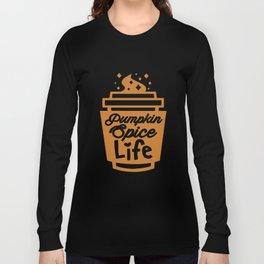 Threadrock Pumpkin Spice Life Unisex Raglan Fall Season Coffee T-Shirts Long Sleeve T-shirt