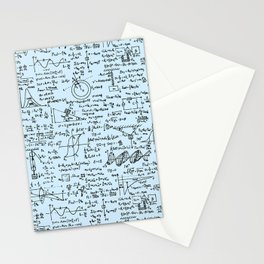 Physics Equations // Baby Blue Stationery Cards