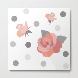Tickle Me Rose Metal Print