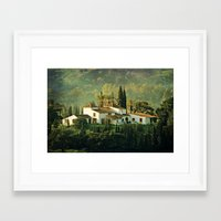 spanish Framed Art Prints featuring Spanish Villa by Clare Bevan Photography