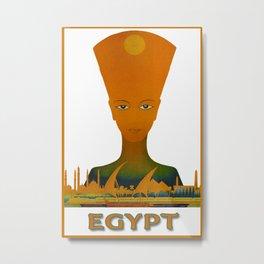 Vintage Egypt Pharaoh Travel Metal Print