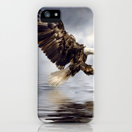 Bald Eagle swooping iPhone Case