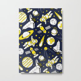 Space is for the brave Metal Print