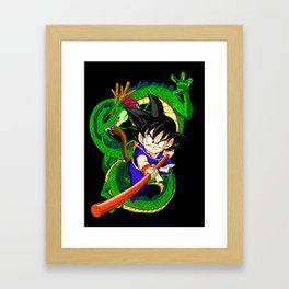 Little Goku Framed Art Print