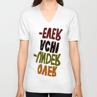 u2 V-neck T-shirts featuring o-u2 by gasponce