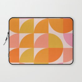 Mid Century Mod Geometry in Pink and Orange Laptop Sleeve