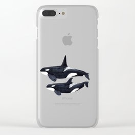 Orca male and female Clear iPhone Case