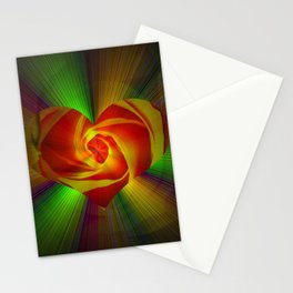 Abstract in perfection - Rose Stationery Cards