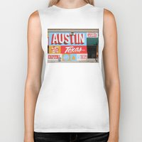 austin Biker Tanks featuring Austin, TX by Black Oak ATX