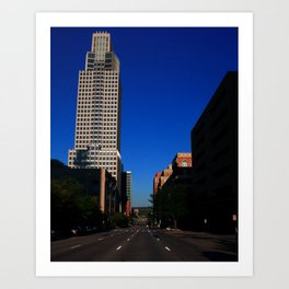 The Middle of the Road Art Print