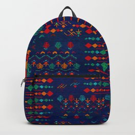 -A17- Anthropologie Moroccan Blue Artwork. Backpack