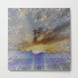 Digital Sunset Moon Day Fractal Harmonic Magick #1 Metal Print