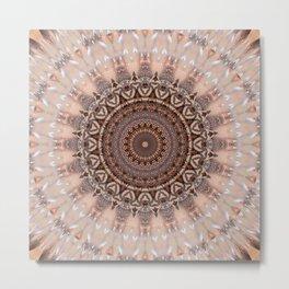 Mandala romantic pink Metal Print