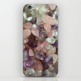 Amethyst, Rose quartz,  chrystal iPhone Skin
