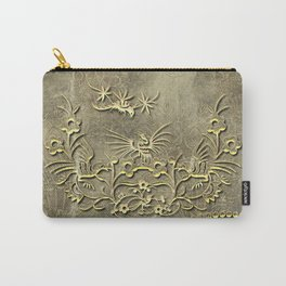 Fantasy birds with flowers Carry-All Pouch
