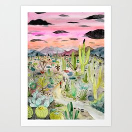 Cactus Forest Art Print