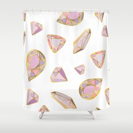 gem and crystals Shower Curtain