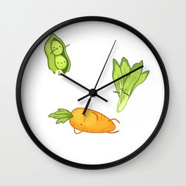 Peas Romaine Calm and Carrot on, Please Remain Calm and Carry On Pun, Funny Vegan Gift, Funny Wall Clock