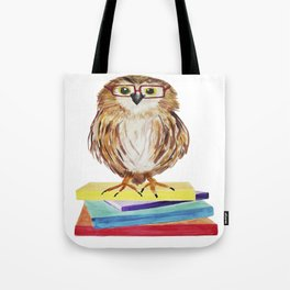 Reading Owl Tote Bag