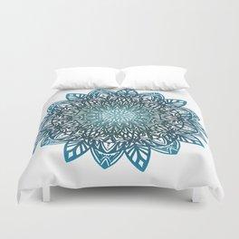 Blue mandala Duvet Cover