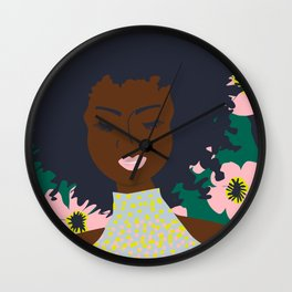 Thoughts of Pink Blooms Everywhere No 01  Wall Clock