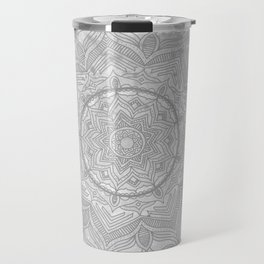 gray splash mandala swirl boho Travel Mug