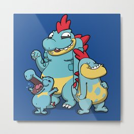 Pokémon - Number 158, 159, 160 Metal Print
