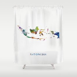 Indonesia Shower Curtain