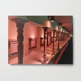Traditional design of pillars in India  Metal Print