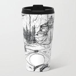 Hamsa in Nature Metal Travel Mug