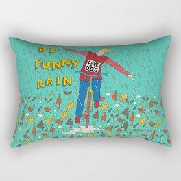 Be Funny Rain Rectangular Pillow