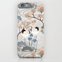 Japanese Garden Gray iPhone Case