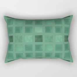 Colorful geometric pattern grunge Tile . Green emerald color . Rectangular Pillow