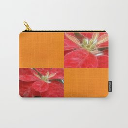 Mottled Red Poinsettia 1 Ephemeral Blank Q8F0 Carry-All Pouch