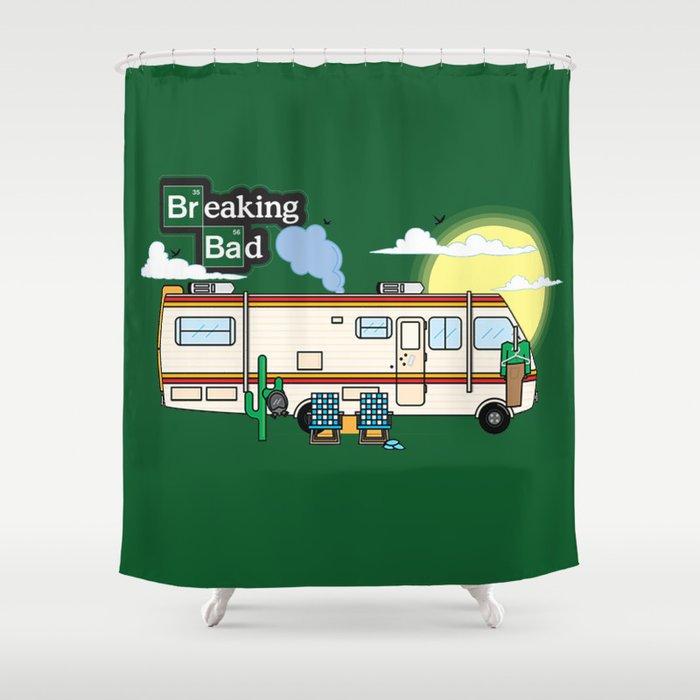 Legendary RV Shower Curtain By Shupicadesigns