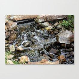 Zen Trickling Water Stream Canvas Print
