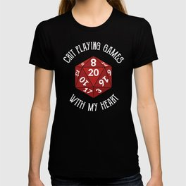 Crit playing games with my heard | Role play Game master Cosplay with D20 T-shirt