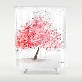 Kwanzan Cherry Tree Shower Curtain