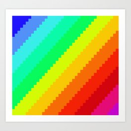 Pixel Rainbow Dreams Art Print