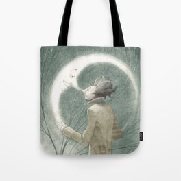 THE MAN & THE MOON Tote Bag