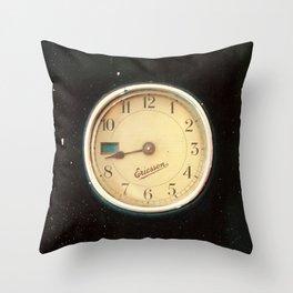 Retro Clock Throw Pillow