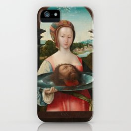 Salome with the Head of John the Baptist, Jacob Cornelisz van Oostsanen, 1524 iPhone Case