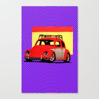 volkswagen Canvas Prints featuring VolkSWAGen by Colby Gray
