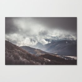 Waiting for the sun - Landscape and Nature Photography Canvas Print
