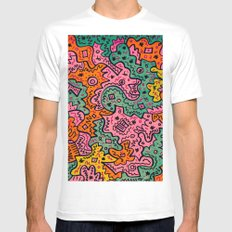 Totally Abstract Mens Fitted Tee MEDIUM White