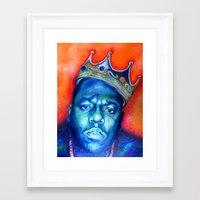 "biggie smalls Framed Art Prints featuring ""Biggie Smalls"" by Original Art by Renteria"